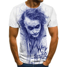 Load image into Gallery viewer, Hot Sale Clown T Shirt Men/women Joker Face 3D Printed Terror Fashion T-shirts size XXS-6XL