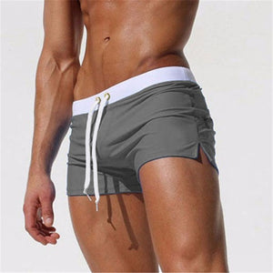 ALSOTO Summer Swimwear Men Breathable Men's Swimsuits Trunks Boxer Briefs Sunga SwimSuits Maillot De Bain Beach Shorts 2020 New