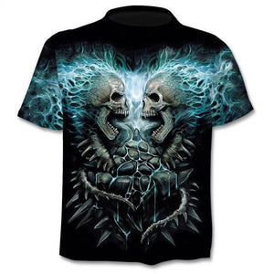 New Mens Skull T Shirts Brand Punk Style Finger Skull 3dt -Shirts Men Tops Hip Hop 3d Print Skull Punisher T -Shirt Dropshipping