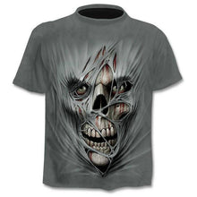 Load image into Gallery viewer, New Mens Skull T Shirts Brand Punk Style Finger Skull 3dt -Shirts Men Tops Hip Hop 3d Print Skull Punisher T -Shirt Dropshipping