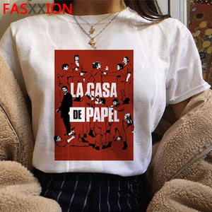 New Money Heist Cool Tshirt Men La Casa De Papel Harajuku T-shirt House of Paper Graphic Tshirt Bella Ciao Hip Hop Top Tees Male