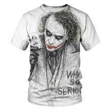 Load image into Gallery viewer, New clown summer flame 3d T-shirt  printed short sleeved T-shirt men round neck T-shirt women and men3D harajuku T-shirt 5XL