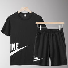 Load image into Gallery viewer, Casual Male Tracksuit Clothing Summer Men Set Fitness Suit Sporting Suits Short Sleeve T Shirt + Shorts Quick Drying 2 Piece Set