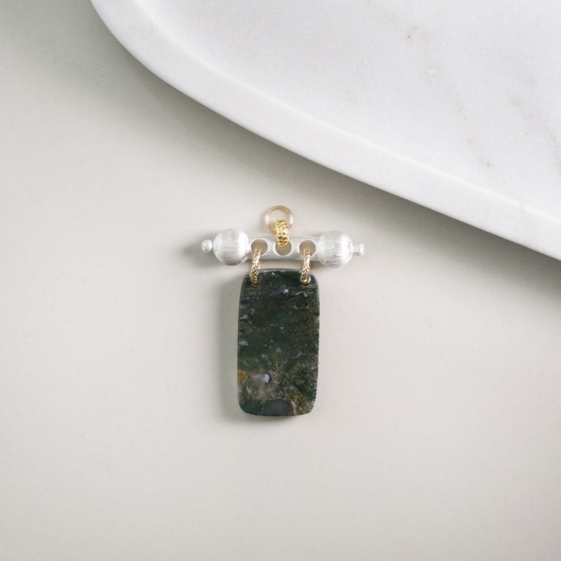 Baron Barr Moss Agate (silver two-tone)