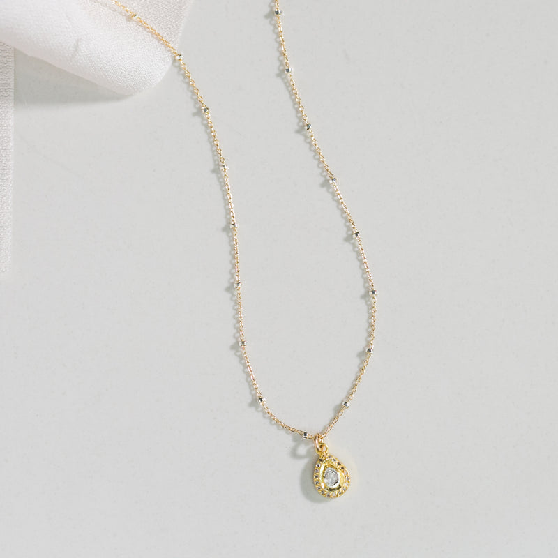 Remy Polki Tear Necklace (gold)