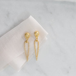 Remy Diamond Droplet Earrings (gold)