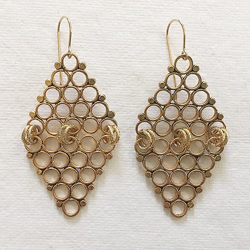 Double Egyptian Pyramids (gold)