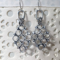 Persian Hive Earring - Silver