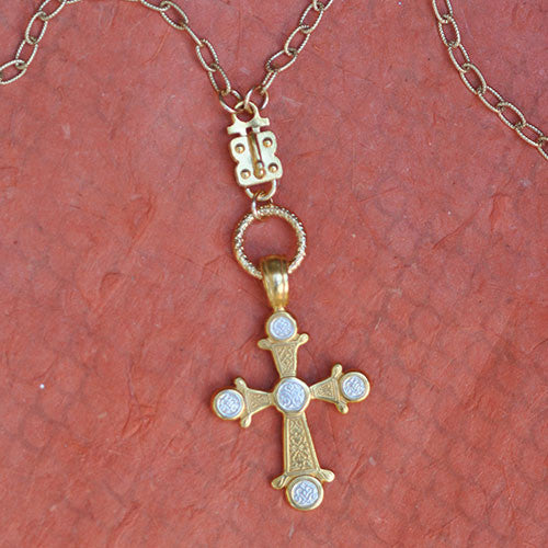 Two Tone Cross 7 (gold)