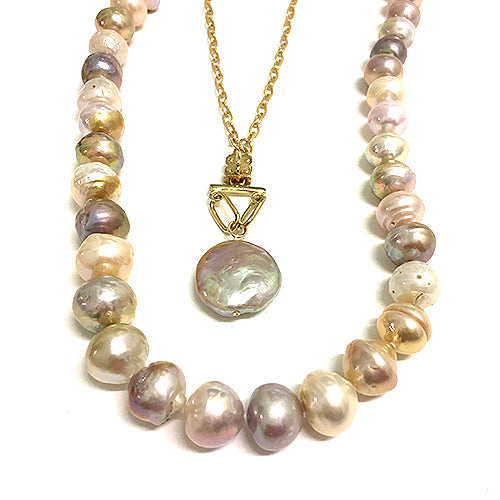 Blush Hued Coin Pearl