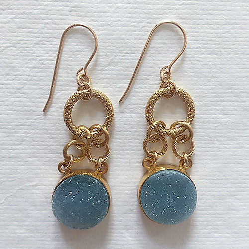 Drusy Drop Earring