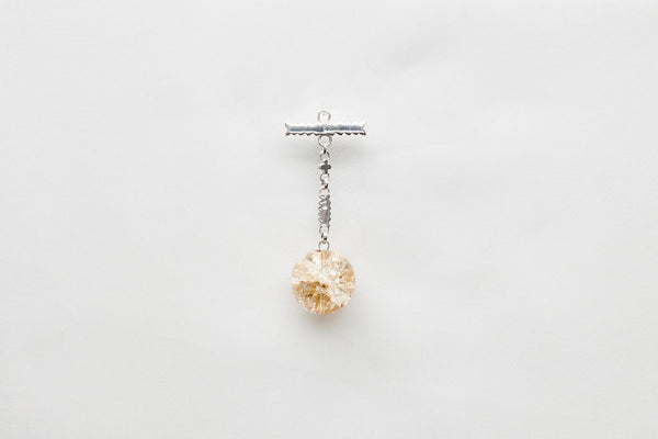 Germain Drop Amber Quartz (Silver)