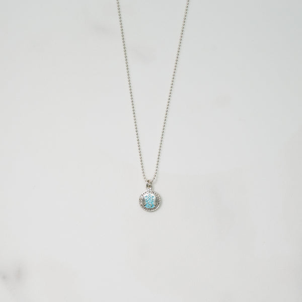 Bitsy Ball Emblem (turquoise & silver)