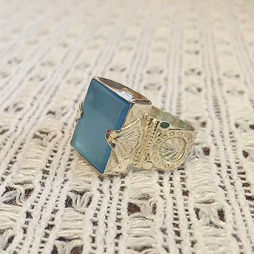 Valor - Blue Chalcedony (sterling)