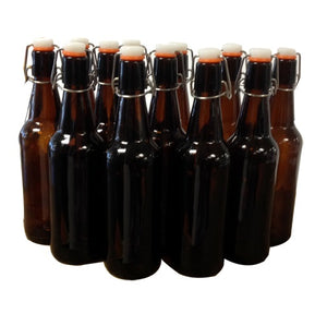 Mangrove Jack's Flip Top Bottle 500ml Amber - Case 12