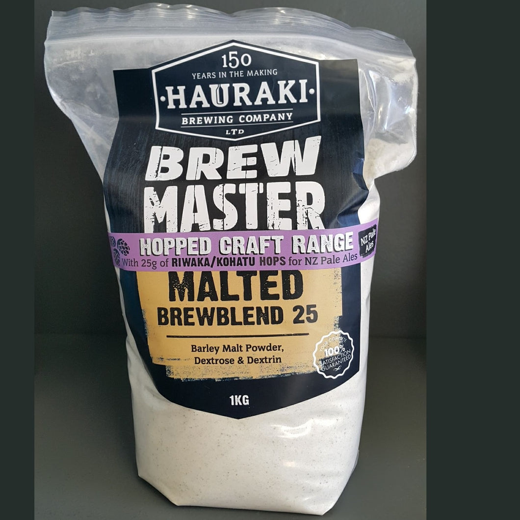 Brewmaster Hopped Craft Range Malted Brewblend 25 1kg - Riwaka Hops