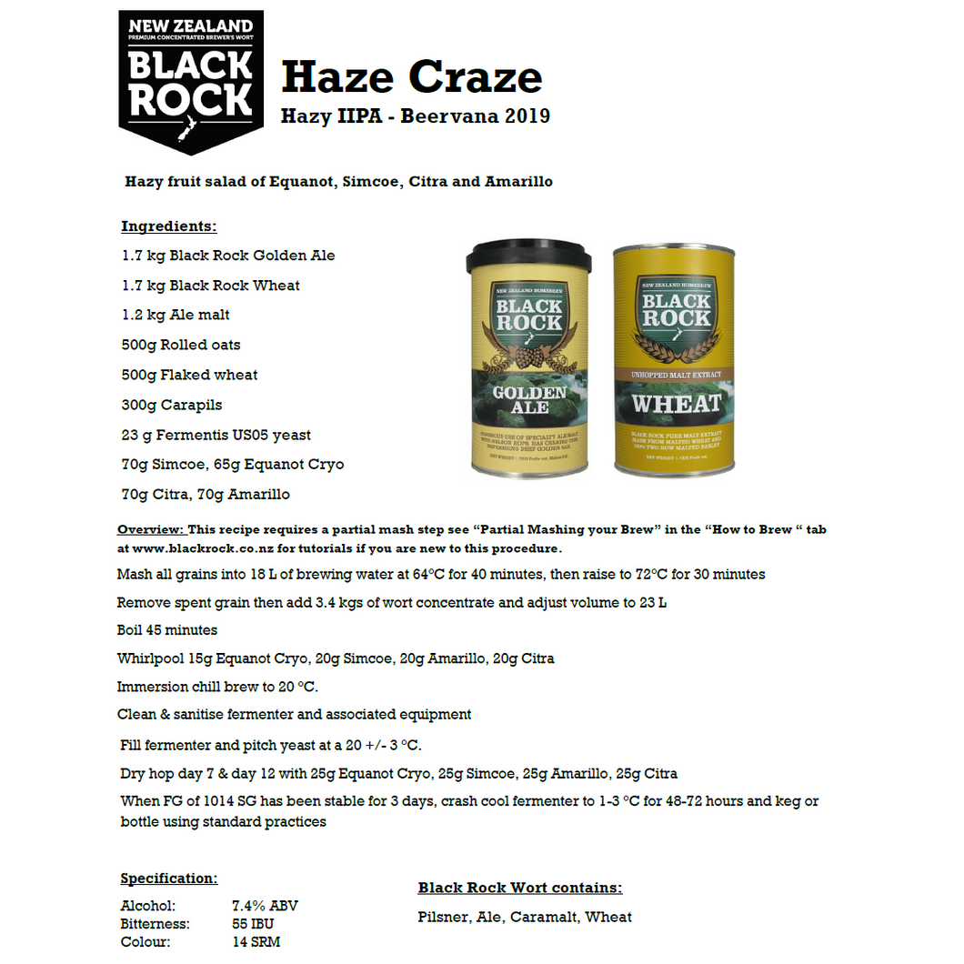 Black Rock Haze Craze
