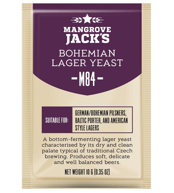 Mangrove Jacks Craft Series M84 BOHEMIAN LAGER YEAST - 10 G OR 100G
