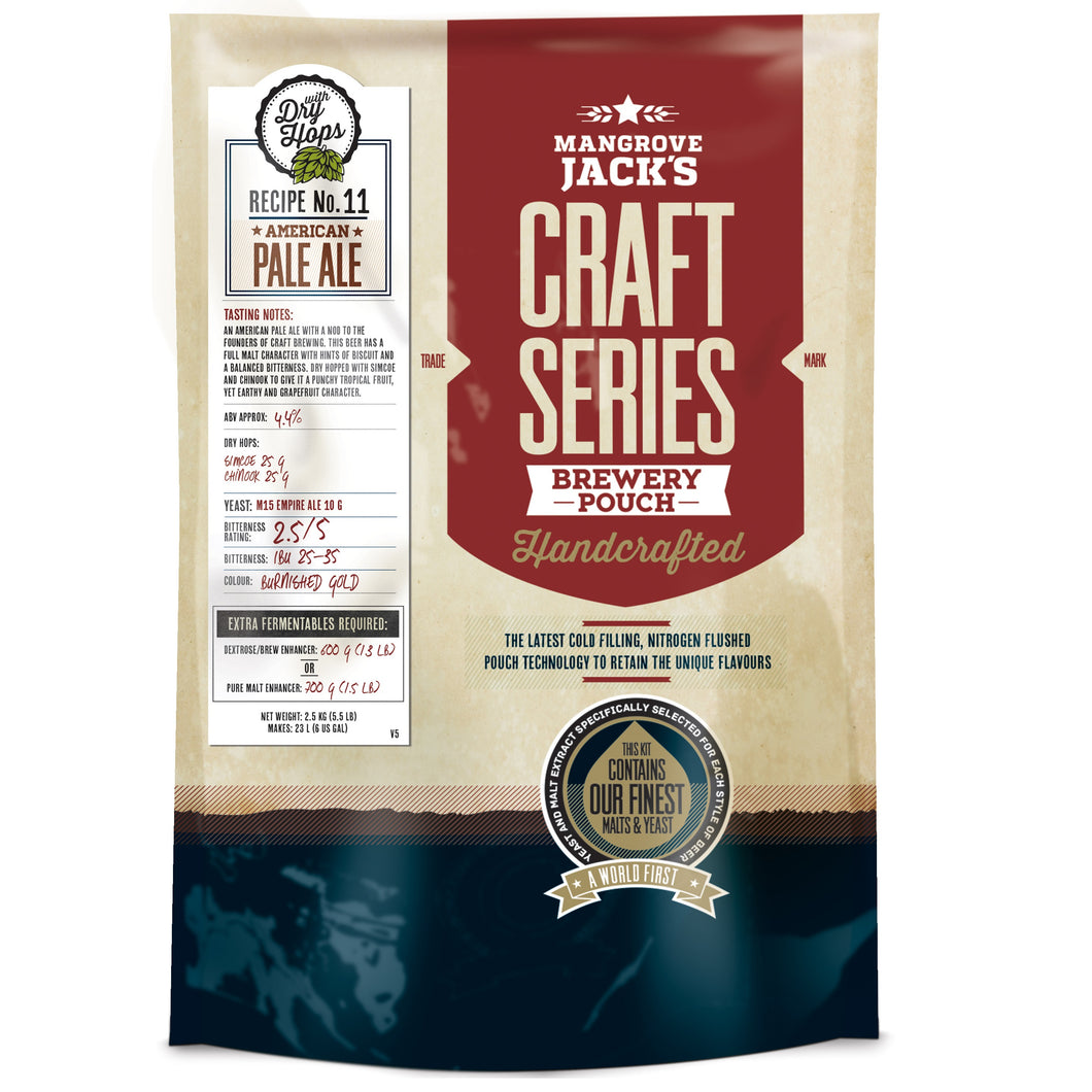 Mangrove Jacks Craft Series AMERICAN PALE ALE WITH DRY HOPS