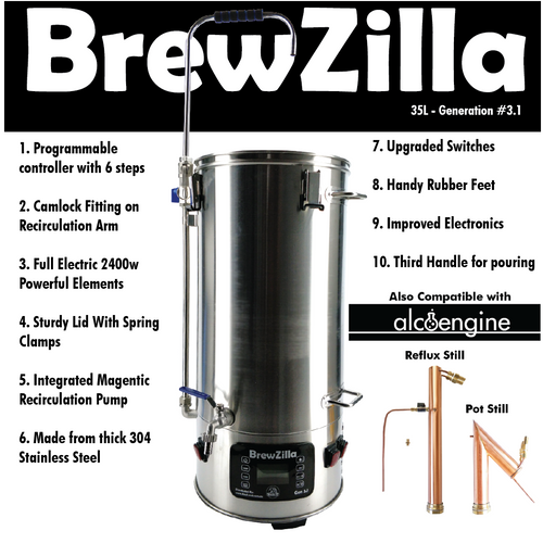 Robobrew Brewzilla 35L Gen 3.1.1 All In One Brew System