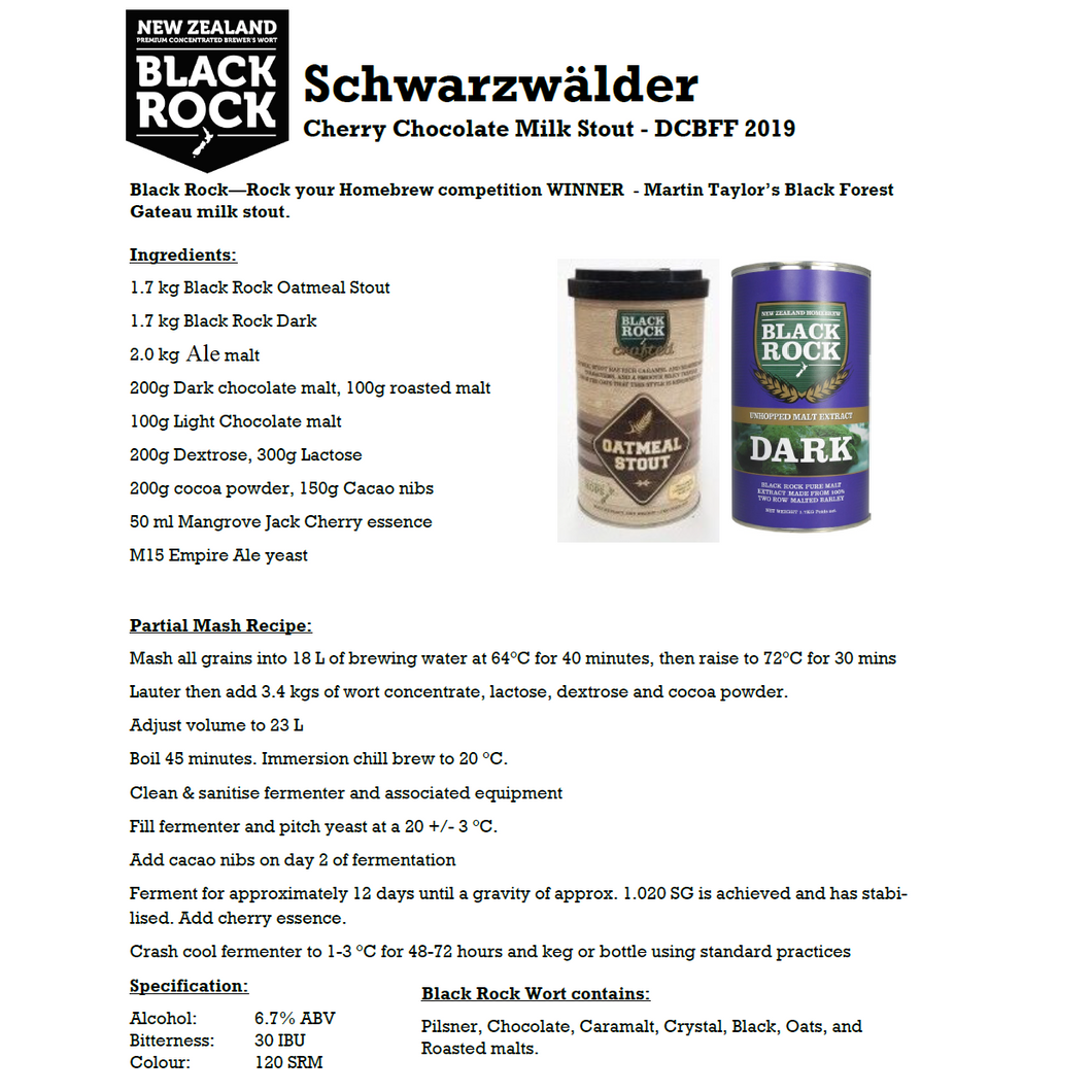 Black Rock Schwarzwalder Forest Gateau Milk Stout