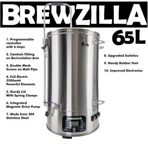 Robobrew Brewzilla 65L Gen 3.1.1 All In One Brew System
