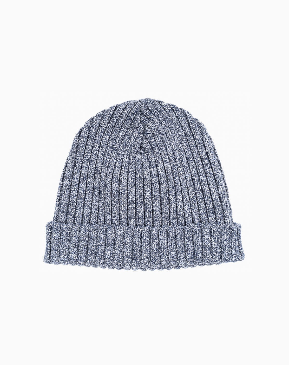 Docksider Knit Beanie in Heather Navy