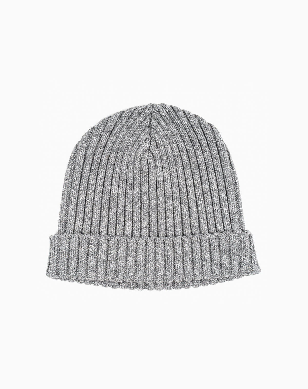 Docksider Knit Beanie in Heather Grey