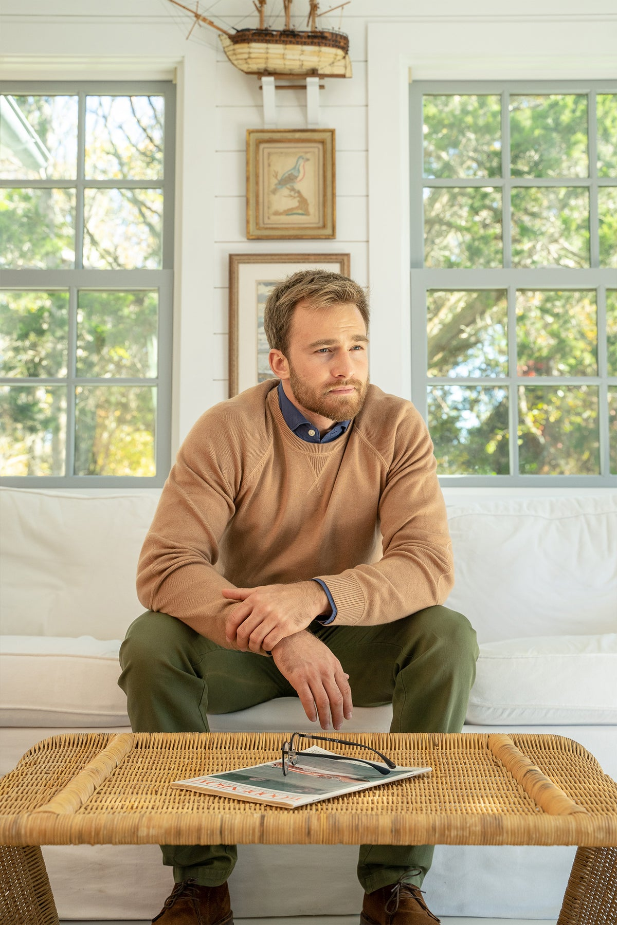 Contender Sweater in Camel