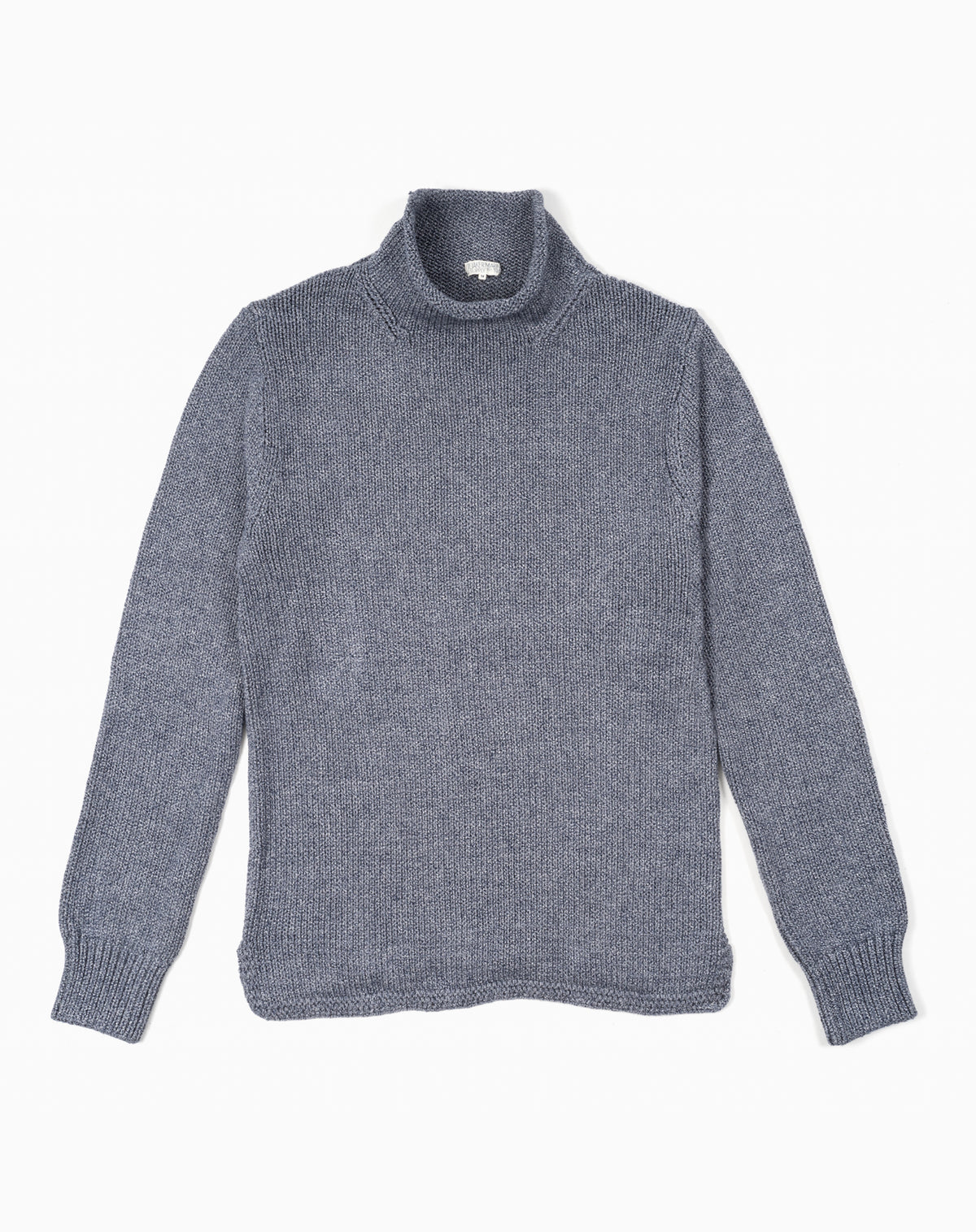 Fisherman's Sweater in Heather Navy