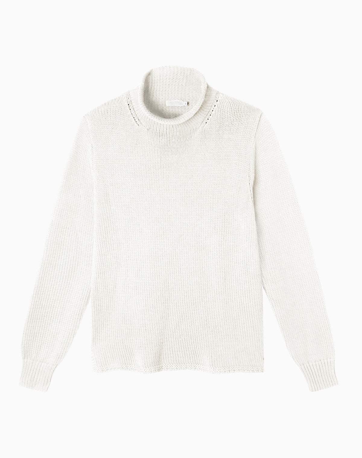 Fisherman's Sweater in Egret