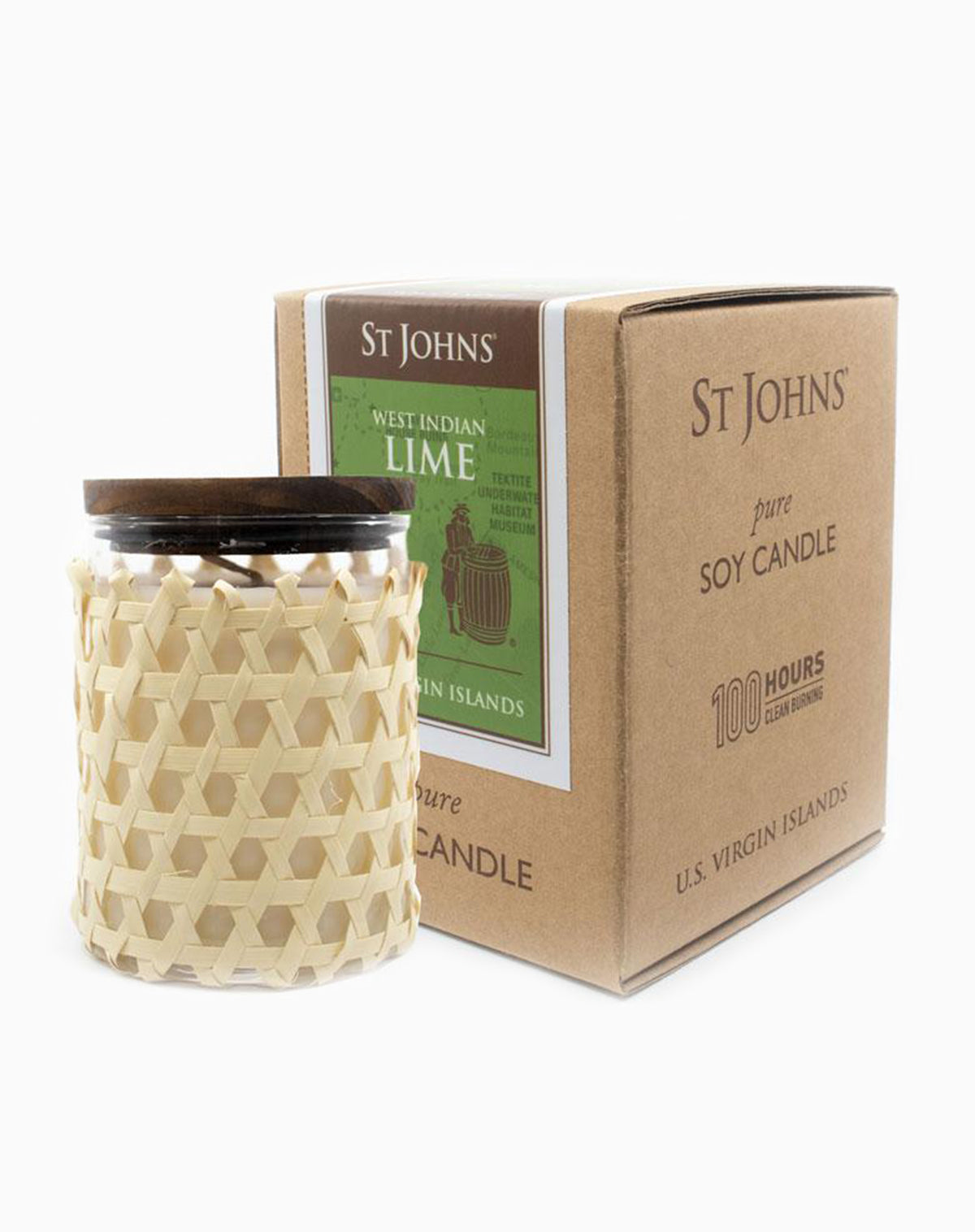 St Johns West Indian Lime Soy Candle