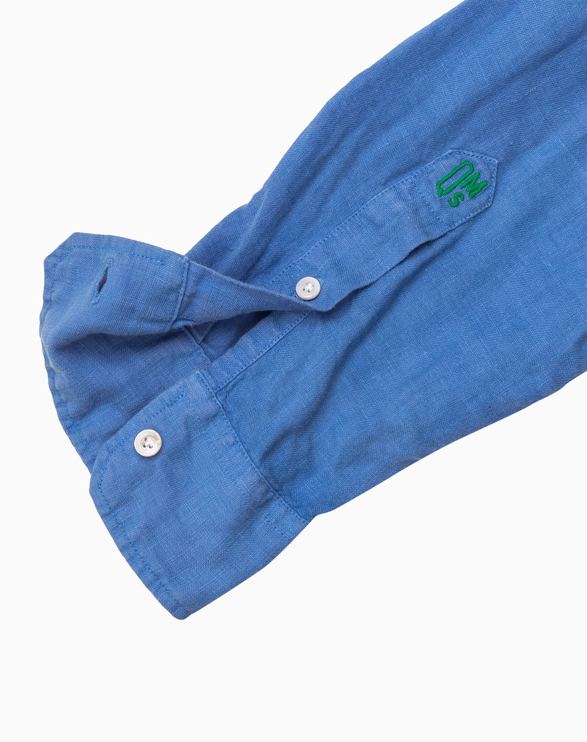 Linen Shirt in Mid-Blue