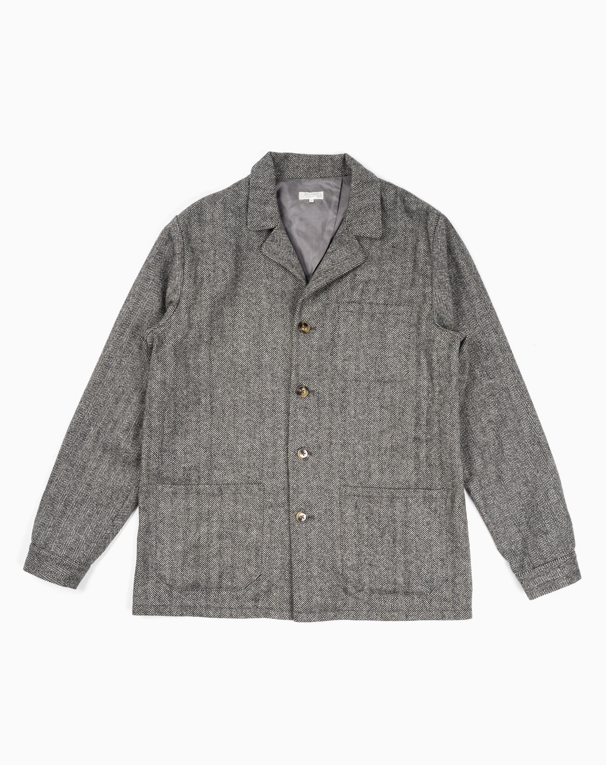 Loafer Jacket in Herringbone Wool