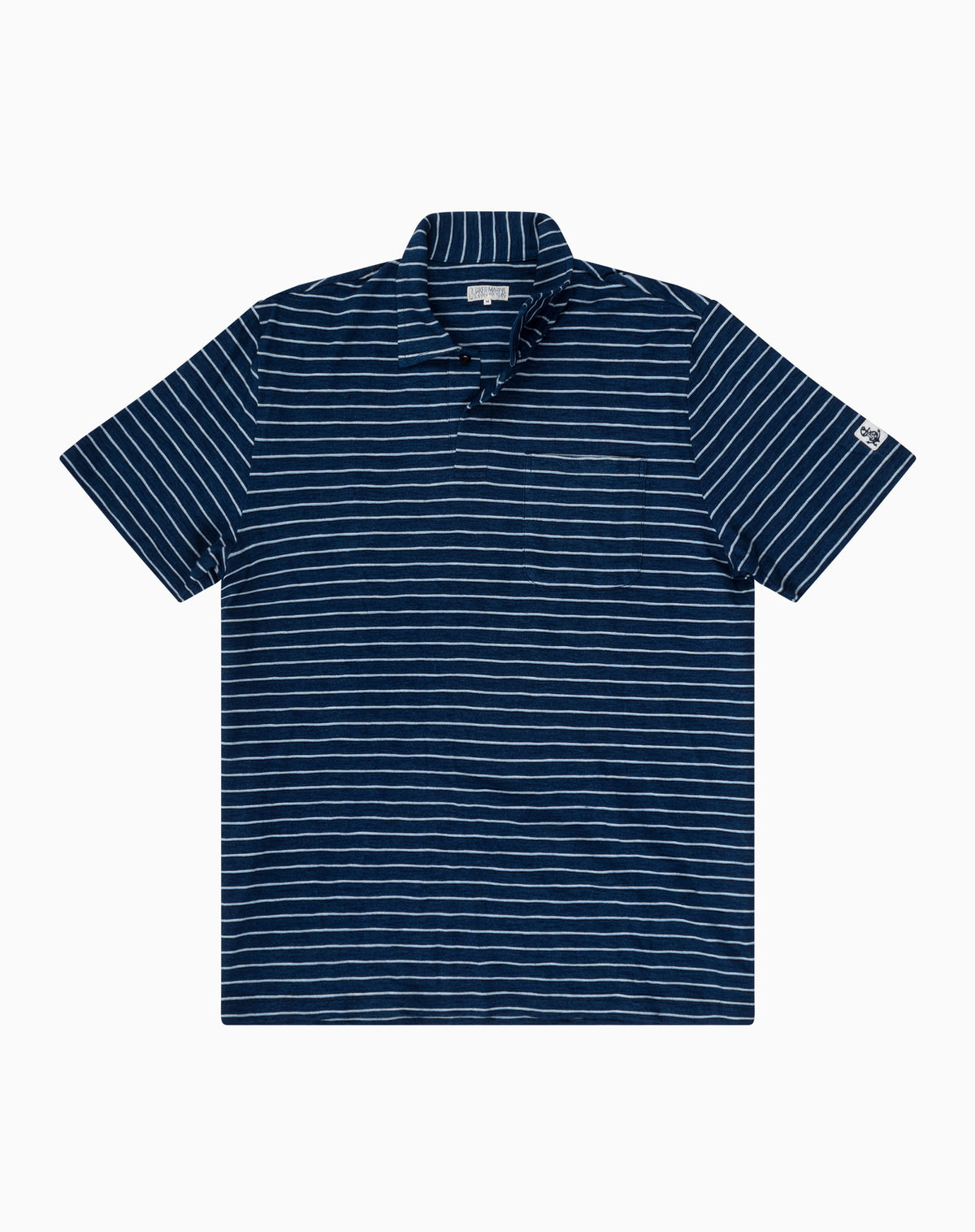 Indigo Stripe Polo in Dark Wash