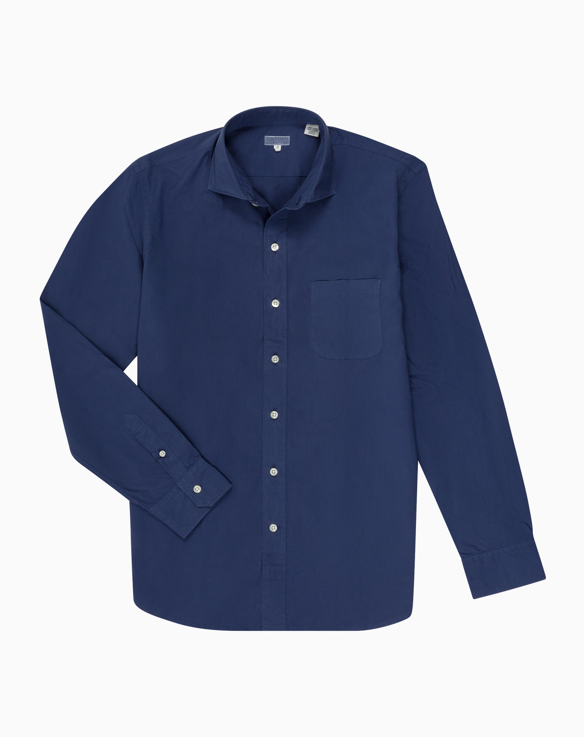 Poplin Shirt in Navy Blue
