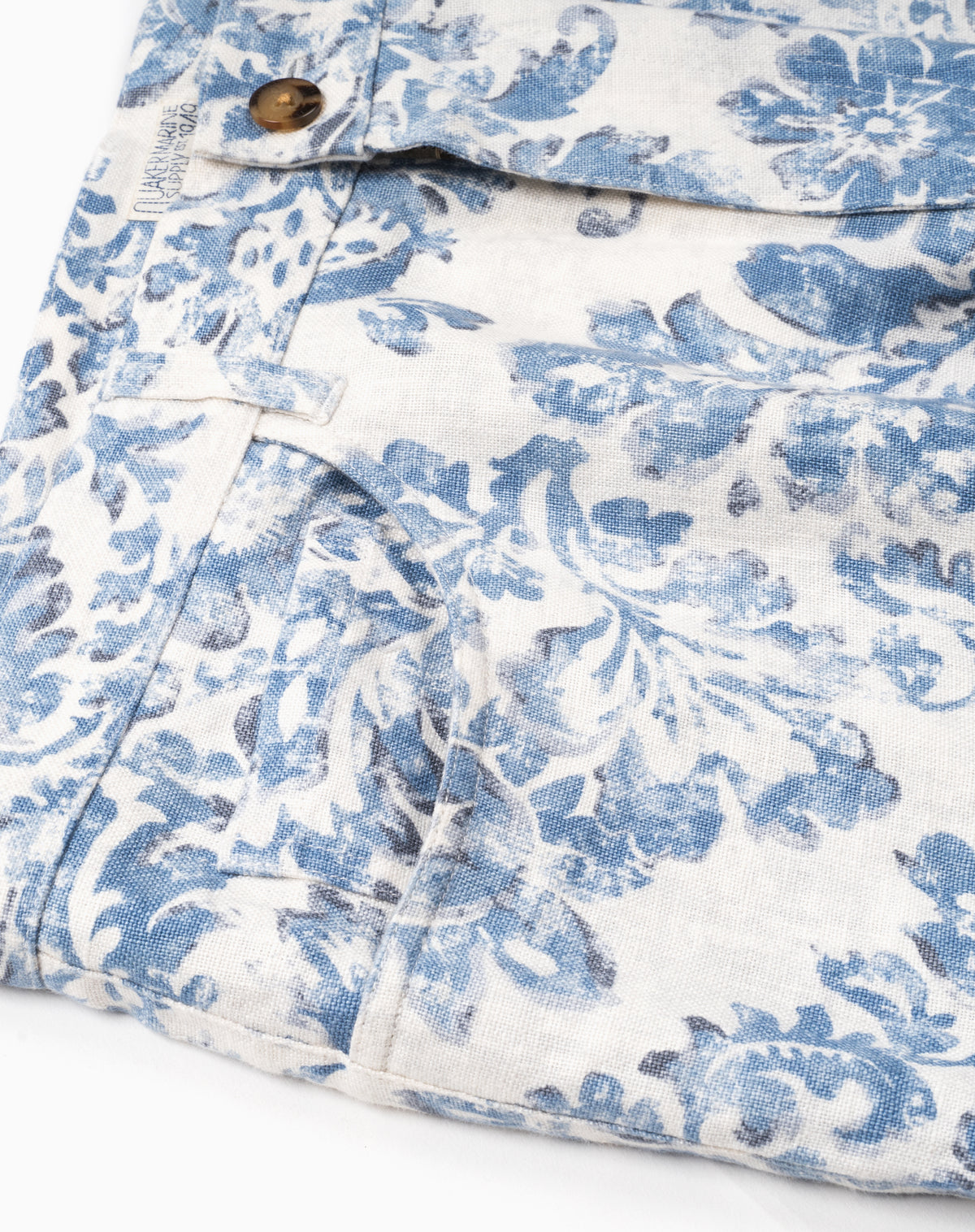 Printed 5-Pocket in Blue Floral