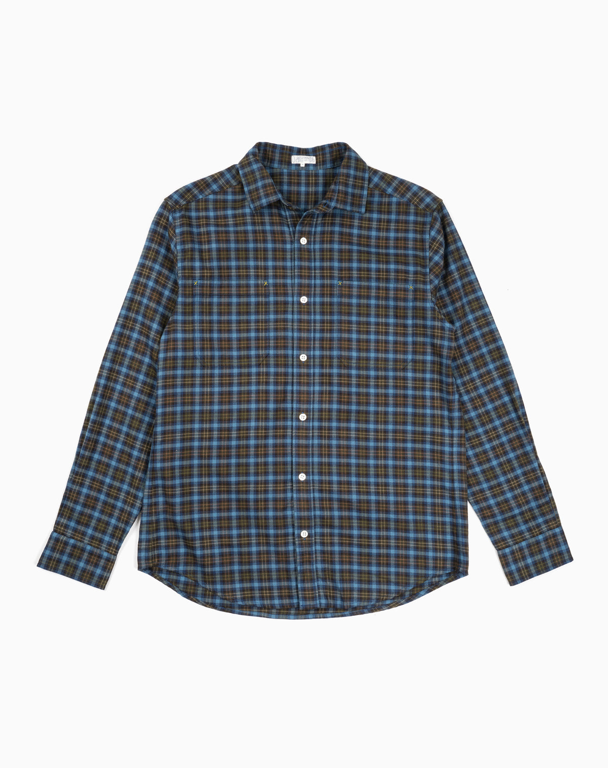 Bangor Flannel in Blue/Yellow