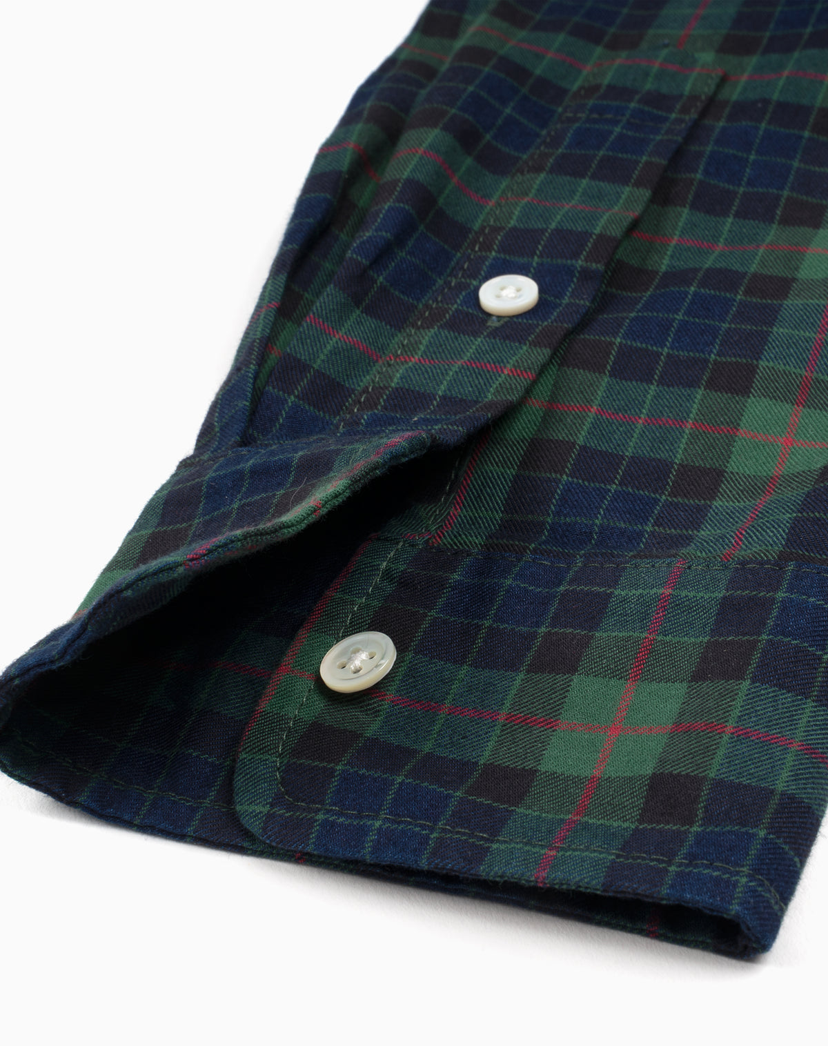 Bangor Flannel in Green/Navy/Red