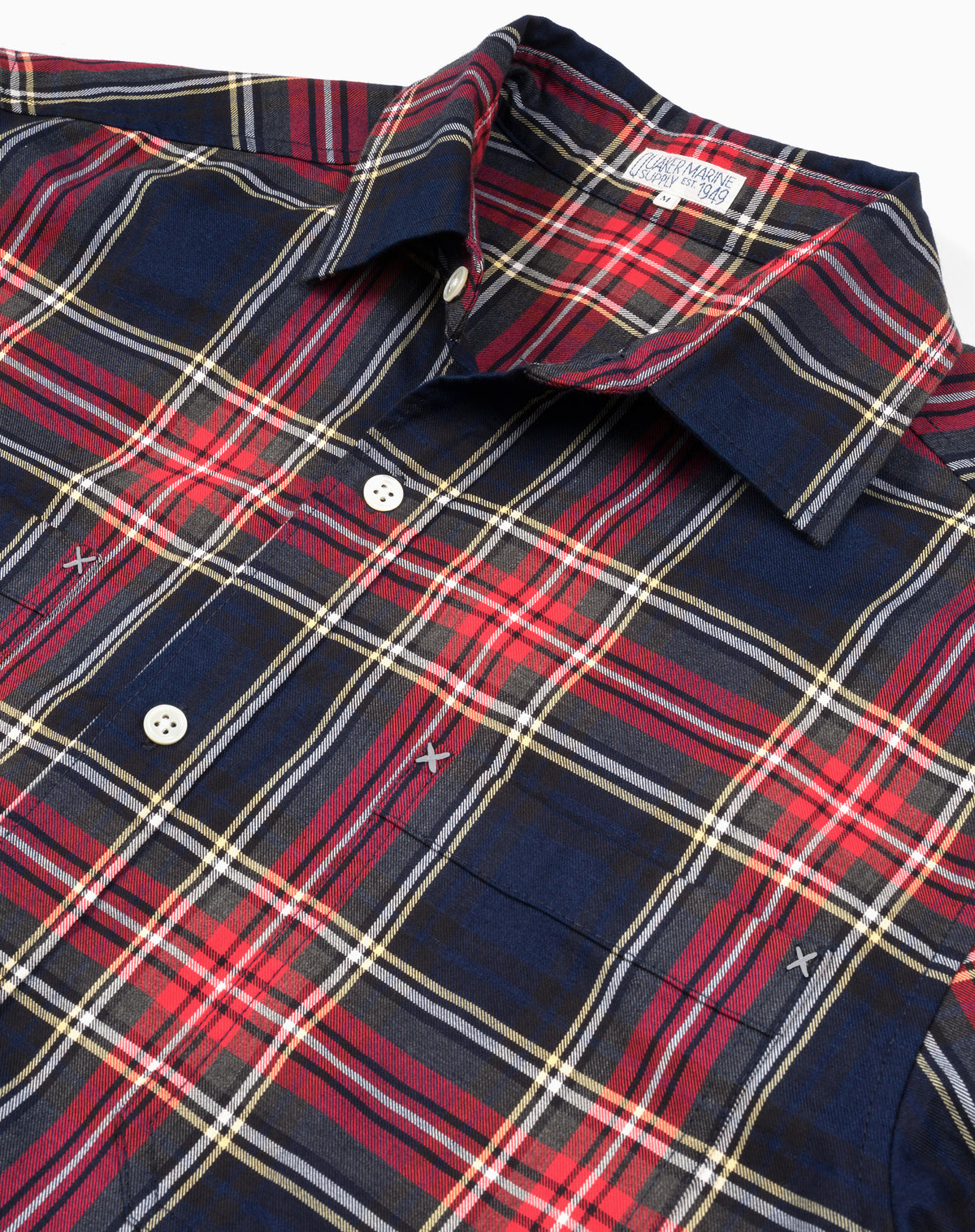 Bangor Flannel in Navy/Red