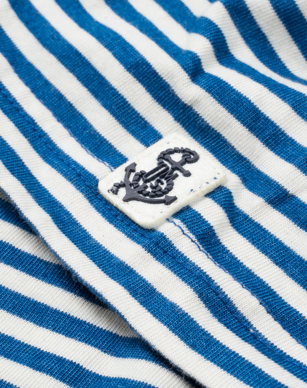 Indigo Polo in Blue/White Stripe