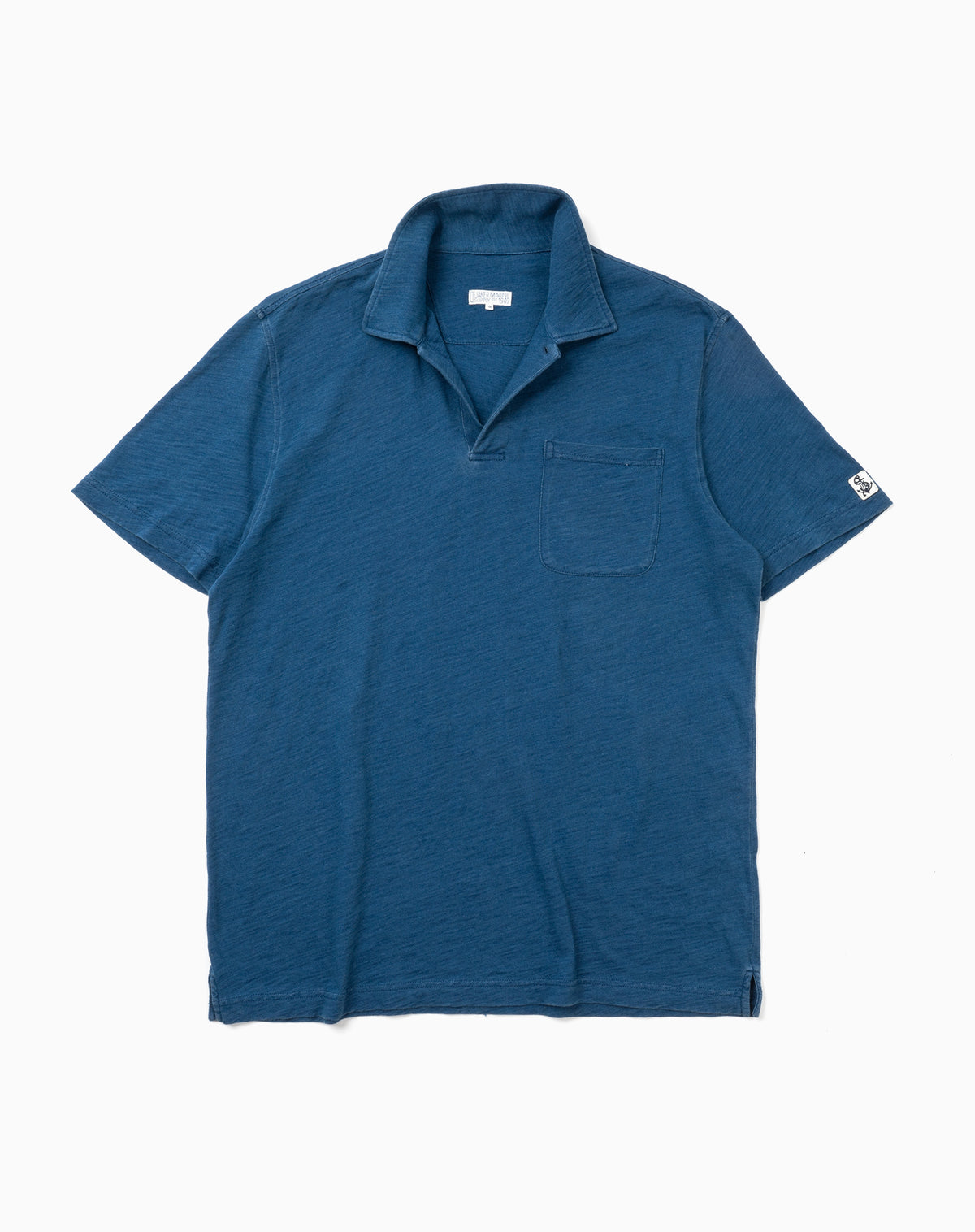 Indigo Polo in Navy Slub