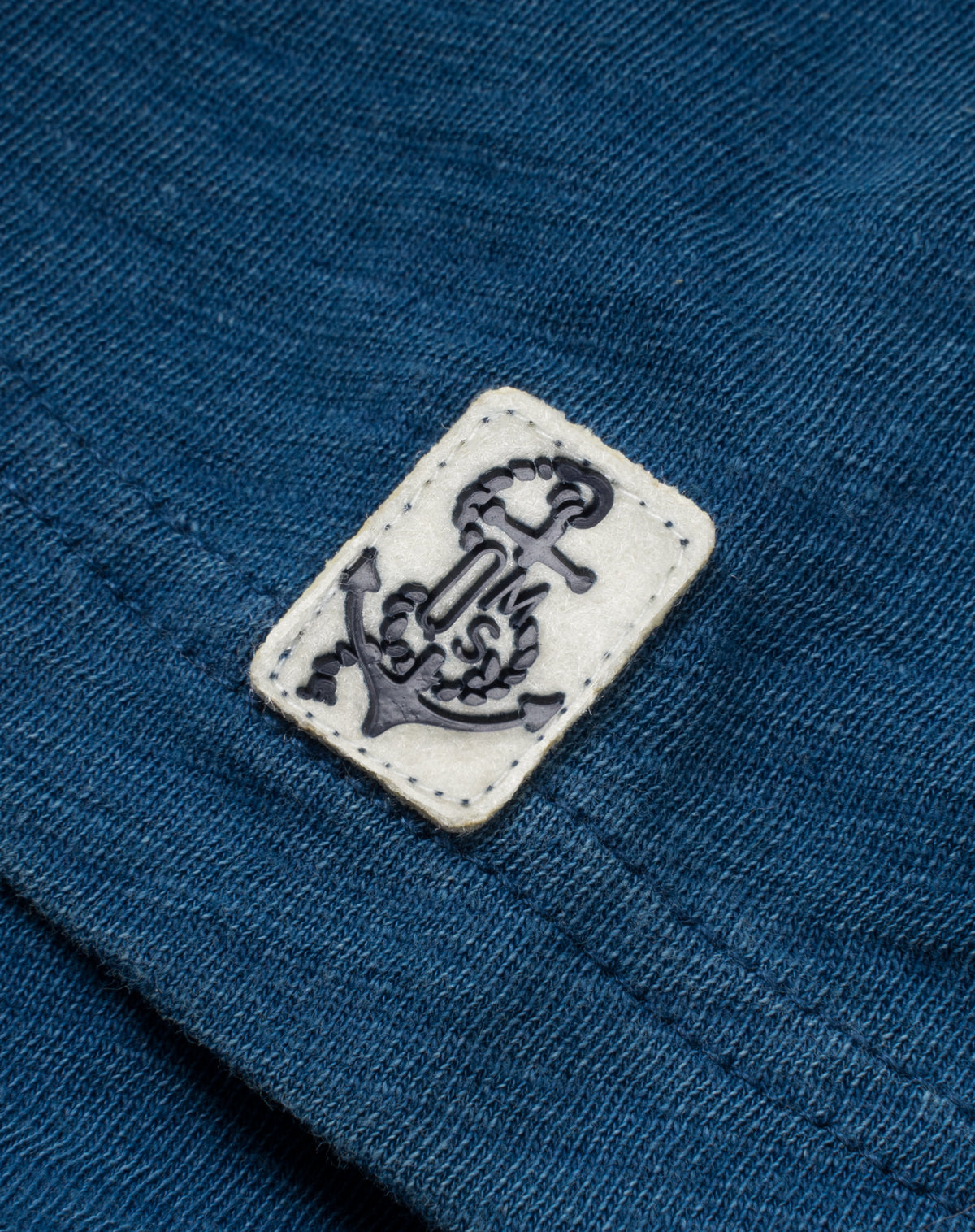 Indigo Polo in Slub