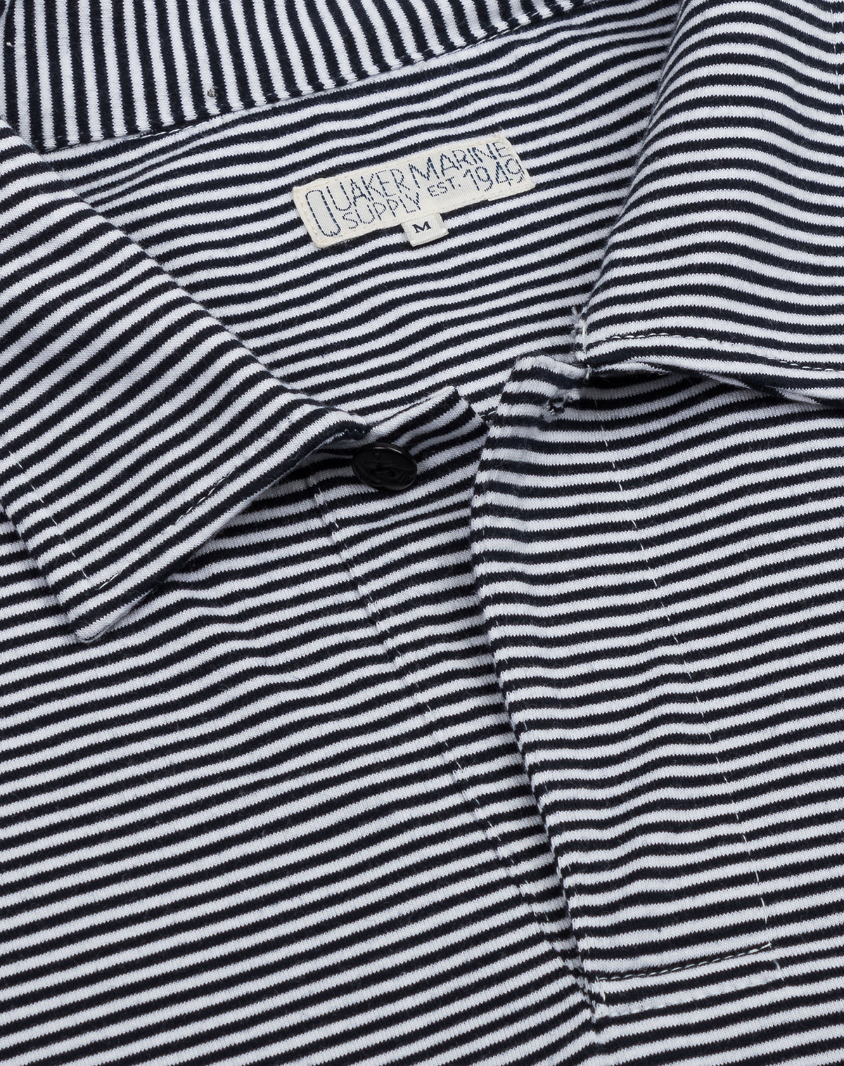 Fine Stripe Polo in Navy/White