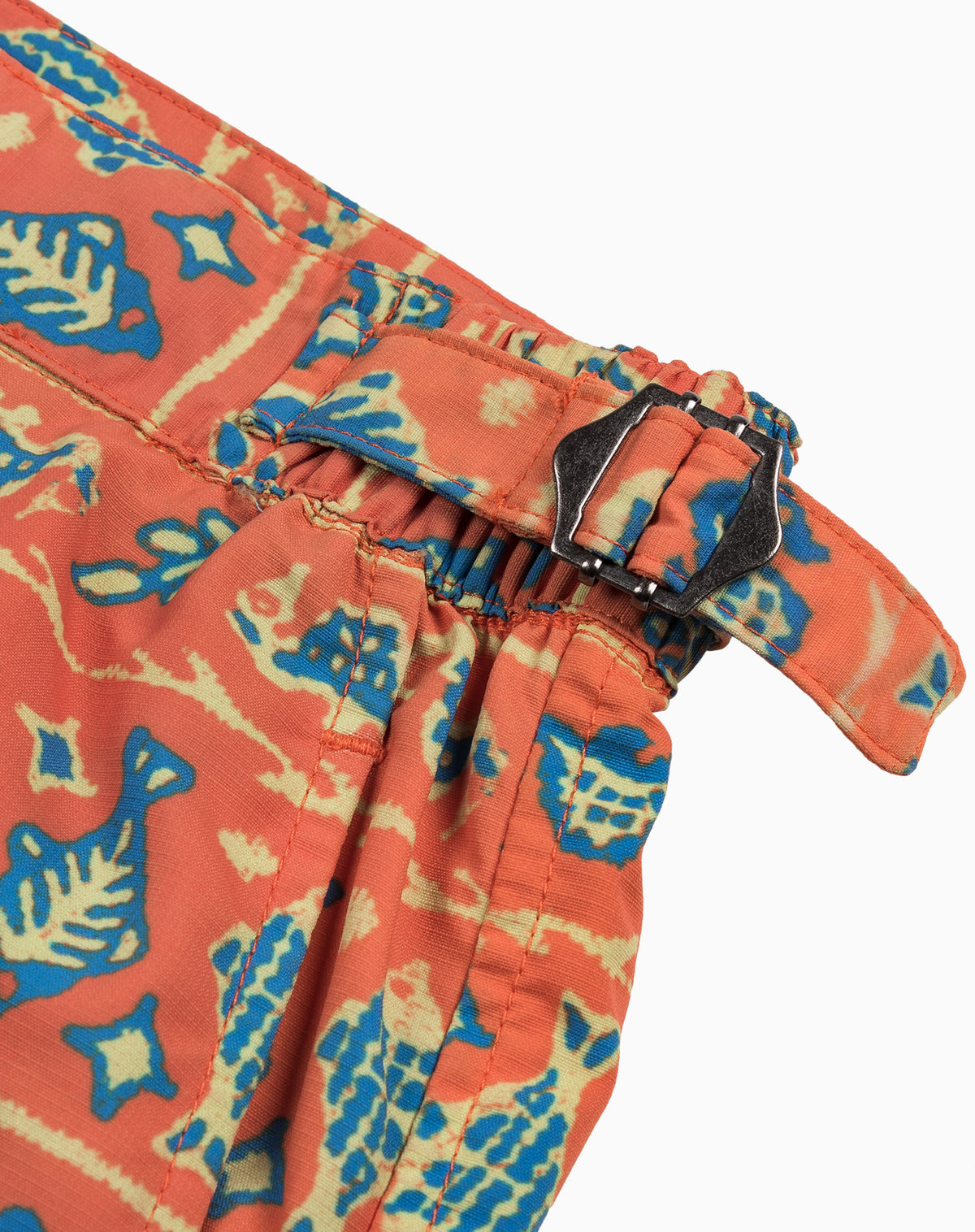 Tailored Trunk in Orange Batik Fish