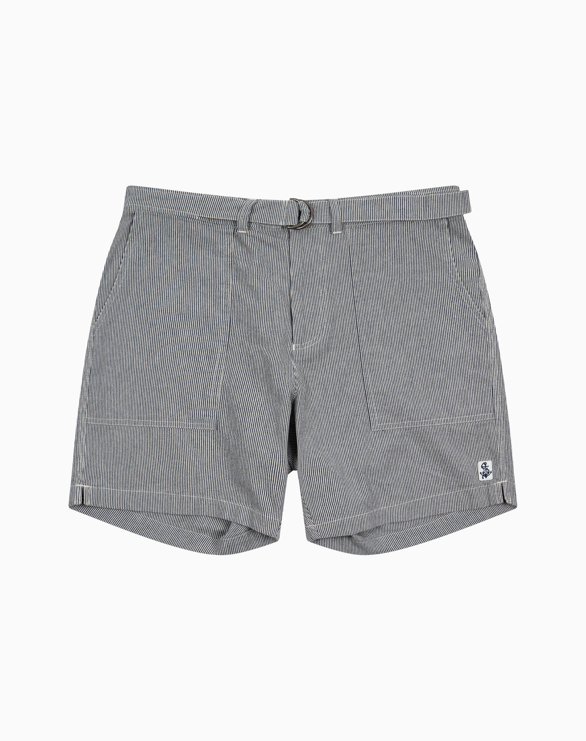 Utility Short in Railroad Stripe