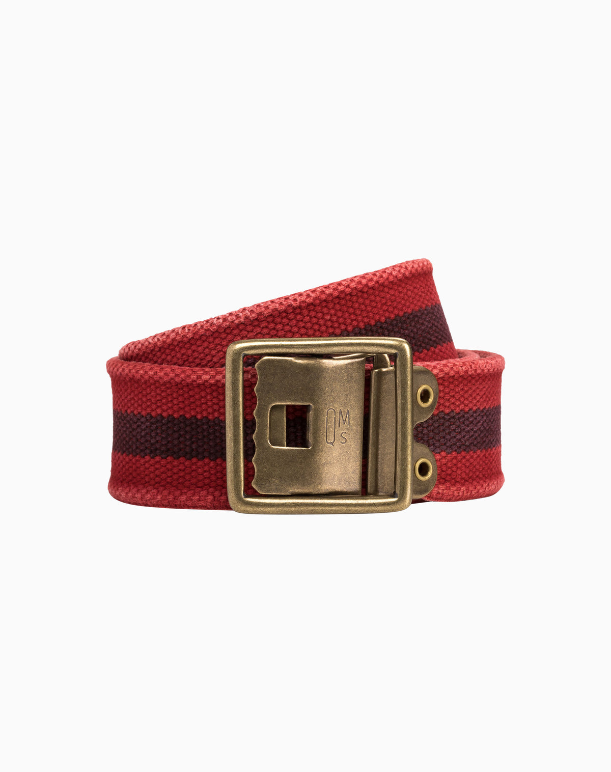 Military Belt in Red with Navy Stripe