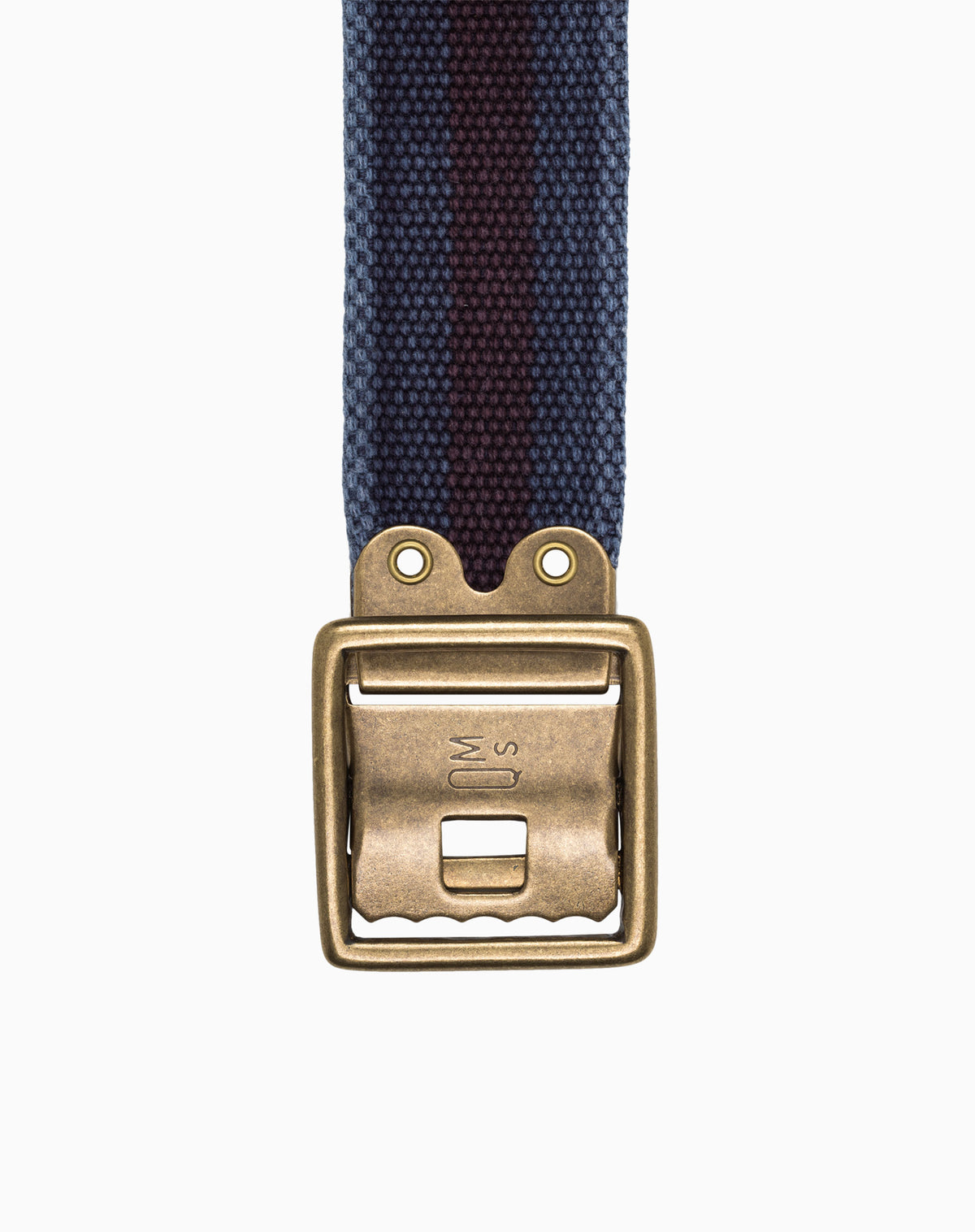Military Belt in Navy with Red Stripe