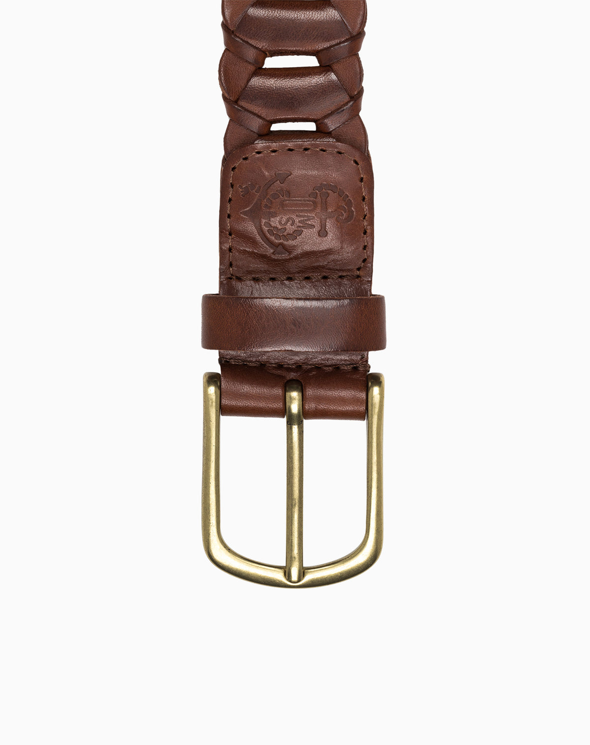 Braided Belt in Cognac