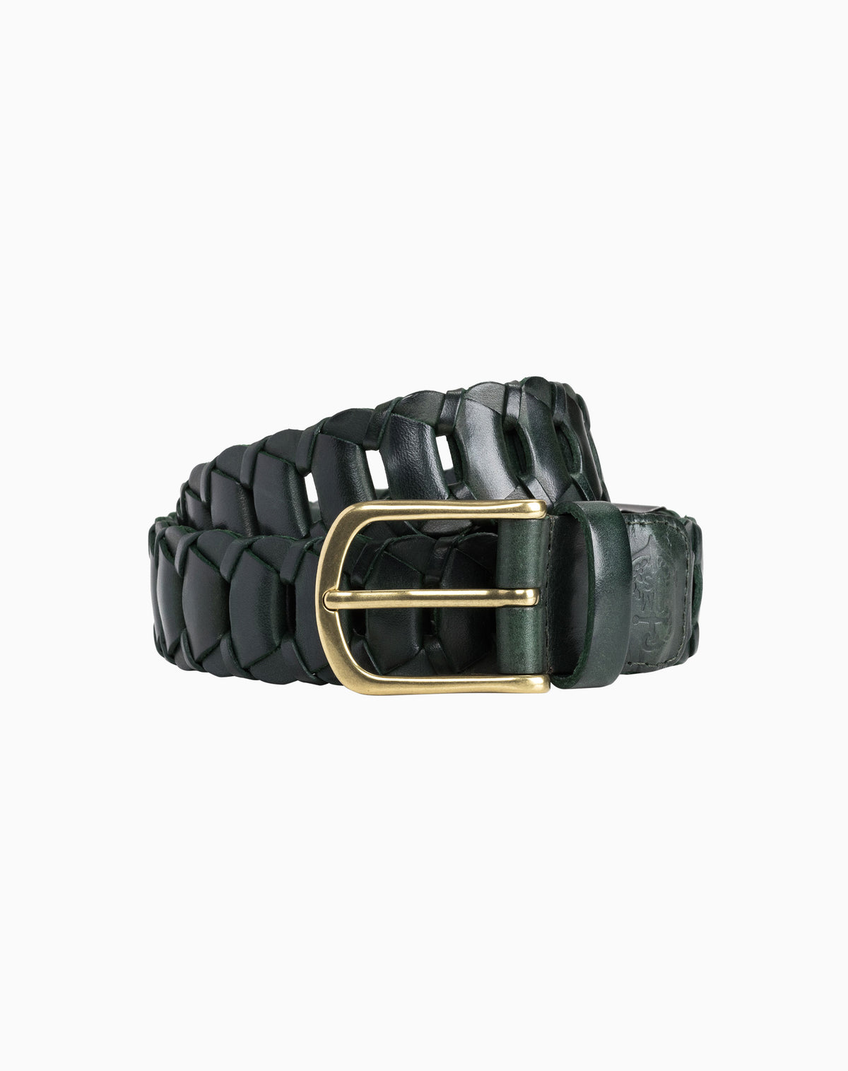Braided Belt in Dark Green